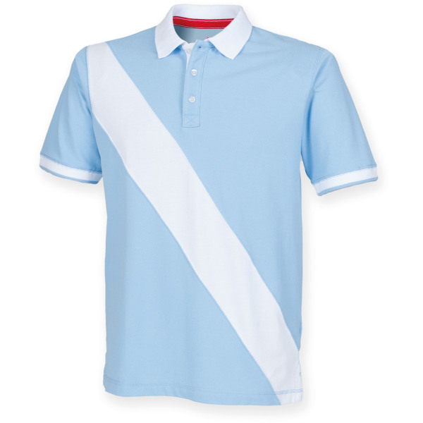 Diagonal stripe house cotton polo shirt