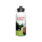 Aluminium 600ml White Drink Bottle