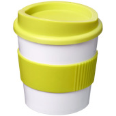 Americano® primo 250 ml beker met grip - Wit/Lime