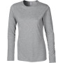Softstyle® fitted ladies' long sleeve t-shirt sport grey s