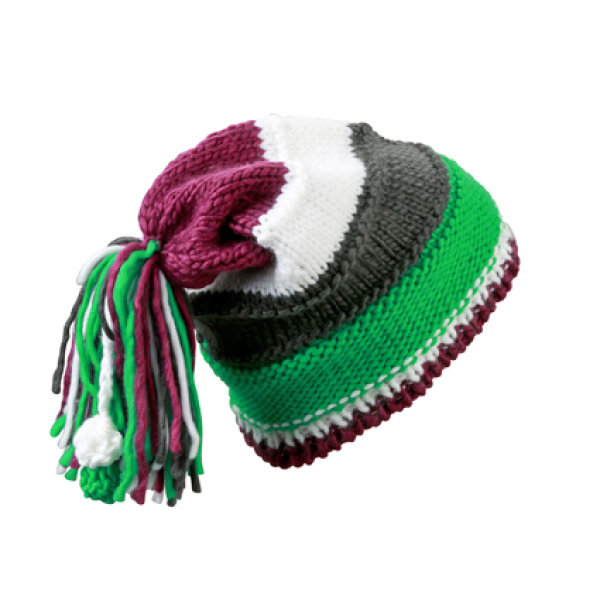 Knitted Beanie with Fringes