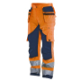 2215 Trouser HV Kl.2 Orange/Navy C62