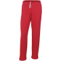 Heavy blend™ adult open bottom sweatpants red l