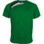 Kindersportshirt green / black / storm grey 6/8