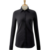 Ladies' long-sleeved stretch shirt