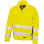 High-viz soft shell jacket safety yellow xxl