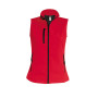 Dames softshell bodywarmer red l