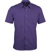 Ace - heren overhemd korte mouwen purple 4xl