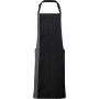 Contrast bib apron black / dark grey one size
