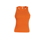 Angelina - dames racerback deep orange s