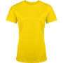 Functioneel damessportshirt true yellow l