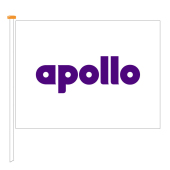 Flag Apollo, size 200x150 cm, white