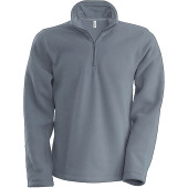 Enzo - zip neck micro fleece top