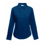 Lady-Fit longsleeve Poplin Shirt Navy M