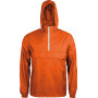 Ongevoerde windbreaker met halsrits orange / white m