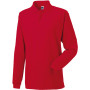 Long sleeve classic cotton polo classic red l