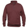 Basic halfzip bordeaux xxl