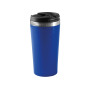 Beker roestvrij staal royal blue one size