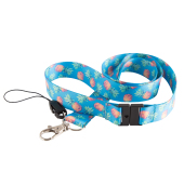 custom sublimatie lanyard met safety buckle.