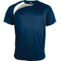 Kindersportshirt sporty navy / white / storm grey 12/14