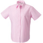 Ladies short sleeve easy care oxford shirt classic pink m