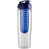 H2O Tempo® 700 ml sportfles en infuser met flipcapdeksel - Transparant/Blauw