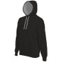 Hooded sweater met gecontrasteerde capuchon black / fine grey 4xl