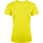 Functioneel damessportshirt fluorescent yellow s