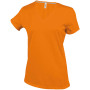 Dames t-shirt v-hals korte mouwen orange 3xl