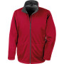 Core softshell jacket red m