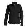 Dames softshell jas black xl