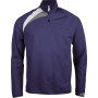 Trainingsweater met ritskraag sporty navy / white / storm grey 4xl