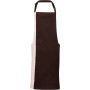 Contrast bib apron brown / natural one size