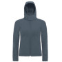 Hooded softshell women dark grey xl