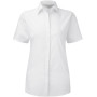 Ladies' short sleeve ultimate stretch white m