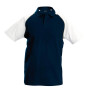 Kinderbaseballpolo navy / white 8/10