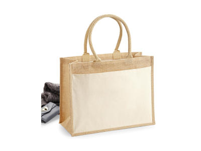 Cotton Pocket Jute Shopper