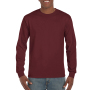 Gildan T-shirt Ultra Cotton LS maroon M