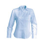 Dames stretch blouse lange mouwen light blue xxl