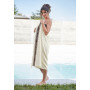 Fouta handdoek natural / chocolate 180 x 100 cm