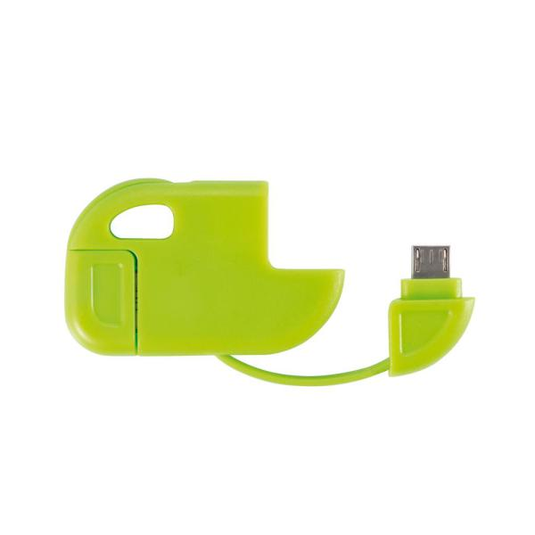 2 in 1 Micro USB kabel groen