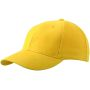 6 Panel Cap Low-Profile goudgeel