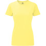 Ladies' hd t yellow marl xs
