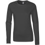 Softstyle® fitted ladies' long sleeve t-shirt charcoal l