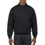Gildan Sweater 1/4 Zip Cadet Vintage 36 black XXXL