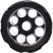 Aluminium torch with nine LEDS