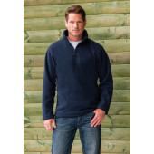 1/4 zip outdoor fleece black s