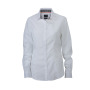 Ladies' Plain Shirt wit/zwart-wit
