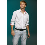 Men's Plain Shirt zwart/zwart-wit