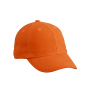 6-Panel Raver Cap One Size Dark Orange